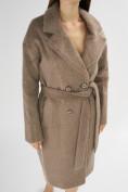 Оптом Пальто демисезонное коричневого цвета 42114K в Екатеринбурге, фото 6