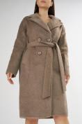 Оптом Пальто демисезонное коричневого цвета 42114K в Екатеринбурге, фото 7