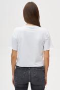 Оптом Топ футболка женская белого цвета 4320Bl, фото 4