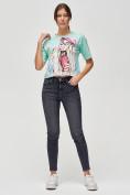 Оптом Топ футболка женская салатового цвета 4320Sl, фото 2