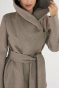 Оптом Пальто демисезонное коричневого цвета 4470K в Екатеринбурге, фото 10