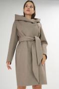 Оптом Пальто демисезонное коричневого цвета 4470K в Екатеринбурге, фото 11