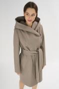 Оптом Пальто демисезонное коричневого цвета 4470K в Екатеринбурге, фото 6
