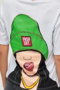 Оптом Женские футболки с принтом белого цвета 50003Bl в Екатеринбурге, фото 7