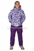 Интернет магазин MTFORCE.ru предлагает купить оптом костюм горнолыжный  для девочки фиолетового цвета 618F по выгодной и доступной цене с доставкой по всей России и СНГ