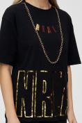 Оптом Женские футболки с надписями черного цвета 65015Ch в Екатеринбурге, фото 8