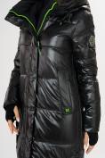 Оптом Куртка зимняя черного цвета 72101Ch в Екатеринбурге, фото 12
