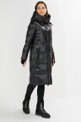 Оптом Куртка зимняя черного цвета 72101Ch в Екатеринбурге, фото 3
