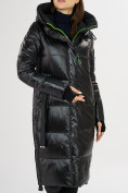 Оптом Куртка зимняя черного цвета 72101Ch в Екатеринбурге, фото 8