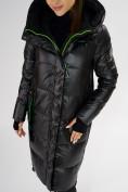 Оптом Куртка зимняя черного цвета 72101Ch в Екатеринбурге, фото 9