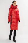 Оптом Куртка зимняя красного цвета 72101Kr в Екатеринбурге, фото 2
