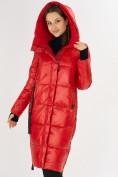Оптом Куртка зимняя красного цвета 72101Kr в Екатеринбурге, фото 5