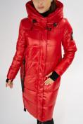 Оптом Куртка зимняя красного цвета 72101Kr в Екатеринбурге, фото 6