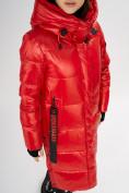 Оптом Куртка зимняя красного цвета 72101Kr в Екатеринбурге, фото 7
