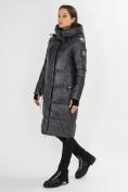 Оптом Куртка зимняя темно-серого цвета 72101TC в Екатеринбурге, фото 2
