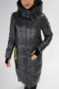 Оптом Куртка зимняя темно-серого цвета 72101TC в Екатеринбурге, фото 10