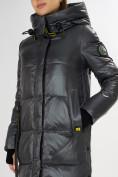 Оптом Куртка зимняя темно-серого цвета 72101TC в Екатеринбурге, фото 12