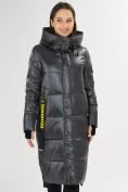 Оптом Куртка зимняя темно-серого цвета 72101TC в Екатеринбурге, фото 5