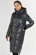 Оптом Куртка зимняя темно-серого цвета 72101TC в Екатеринбурге, фото 6