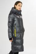 Оптом Куртка зимняя темно-серого цвета 72101TC в Екатеринбурге, фото 7