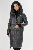 Оптом Куртка зимняя темно-серого цвета 72101TC в Екатеринбурге, фото 8