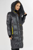 Оптом Куртка зимняя темно-серого цвета 72101TC в Екатеринбурге, фото 9