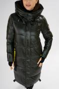 Оптом Куртка зимняя темно-зеленого цвета 72101TZ в Екатеринбурге, фото 11