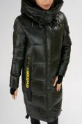 Оптом Куртка зимняя темно-зеленого цвета 72101TZ в Екатеринбурге, фото 12