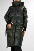 Оптом Куртка зимняя темно-зеленого цвета 72101TZ в Екатеринбурге, фото 13