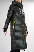 Оптом Куртка зимняя темно-зеленого цвета 72101TZ в Екатеринбурге, фото 14