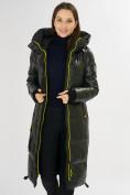 Оптом Куртка зимняя темно-зеленого цвета 72101TZ в Екатеринбурге, фото 15