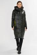 Оптом Куртка зимняя темно-зеленого цвета 72101TZ в Екатеринбурге