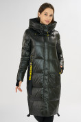 Оптом Куртка зимняя темно-зеленого цвета 72101TZ в Екатеринбурге, фото 5