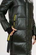 Оптом Куртка зимняя темно-зеленого цвета 72101TZ в Екатеринбурге, фото 6