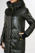 Оптом Куртка зимняя темно-зеленого цвета 72101TZ в Екатеринбурге, фото 7