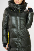 Оптом Куртка зимняя темно-зеленого цвета 72101TZ в Екатеринбурге, фото 8