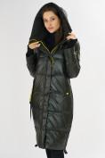 Оптом Куртка зимняя темно-зеленого цвета 72101TZ в Екатеринбурге, фото 10