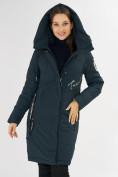 Оптом Куртка зимняя темно-зеленого цвета 72115TZ в Екатеринбурге