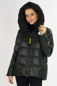 Оптом Куртка зимняя big size болотного цвета 72117Bt в Екатеринбурге, фото 11