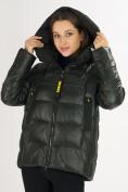 Оптом Куртка зимняя big size болотного цвета 72117Bt в Екатеринбурге, фото 13