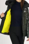 Оптом Куртка зимняя big size болотного цвета 72117Bt в Екатеринбурге, фото 16