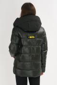 Оптом Куртка зимняя big size болотного цвета 72117Bt в Екатеринбурге, фото 5