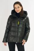 Оптом Куртка зимняя big size болотного цвета 72117Bt в Екатеринбурге, фото 6