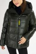 Оптом Куртка зимняя big size болотного цвета 72117Bt в Екатеринбурге, фото 8