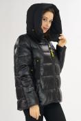 Оптом Куртка зимняя big size черного цвета 72117Ch в Екатеринбурге, фото 9