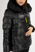 Оптом Куртка зимняя big size черного цвета 72117Ch в Екатеринбурге, фото 11