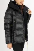 Оптом Куртка зимняя big size черного цвета 72117Ch в Екатеринбурге, фото 13