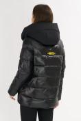 Оптом Куртка зимняя big size черного цвета 72117Ch в Екатеринбурге, фото 14