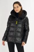 Оптом Куртка зимняя big size черного цвета 72117Ch в Екатеринбурге, фото 4