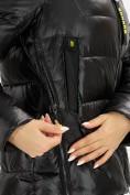 Оптом Куртка зимняя big size черного цвета 72117Ch в Екатеринбурге, фото 7